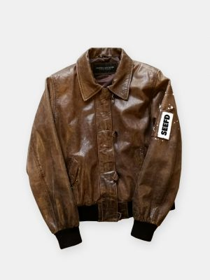SEEFD LEATHER JACKET / PRINT FUTURE PATHS