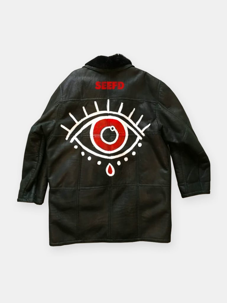 SEEFD LEATHER JACKET / PRINT EYE OF THE WISE