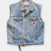 SEEFD DENIM GILET / PRINT REBEL