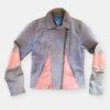 SEEFD leather jacket blue / pink