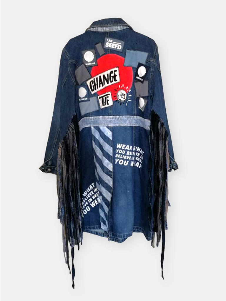 long jeans coat change the world1