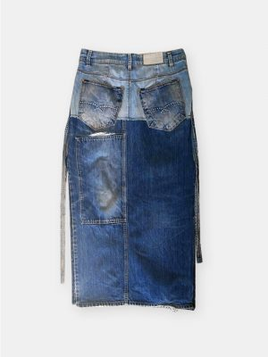 seefd jeans skirt long
